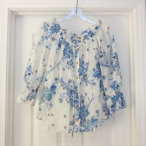 Alice by Temperley Cotton & Silk Blouse NWT
